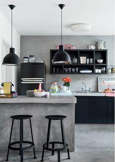 cocina microcemento - 7 Ideas para aplicar el microcemento en paredes