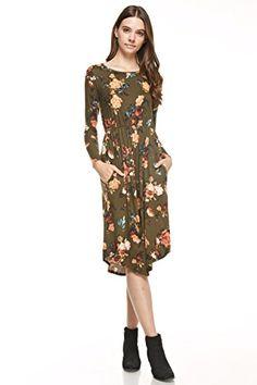 Reborn J's Floral Midi Dress (Small, Olive) Reborn J https://www.amazon.com/dp/B01N1T7W2C/ref=cm_sw_r_pi_dp_x_2zrLybTWJMC4D