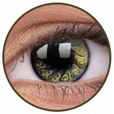 Lentile de contact colorate argintii Jewel Gold - http://lensa.ro/lentile-contact-colorate/stars-jewel/jewel-gold