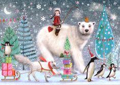 Christmas post card selection 3 pieces por MarquisWonderland