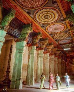 Four pilgrims visit the Meenakshi Temple in Madurai India. Photo from my book #VanishingAsia #India #Meenakshi #Madurai