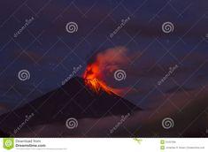 Volcano Erupting, Ecuador Royalty Free Stock Images Image: of volcano family fun night, The Active . Ecuador, Clear Night Sky, Family Fun Night, Active Volcano, Volcanoes, Night Skies, Hawaii, Royalty