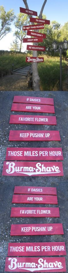 Antiques: Vtg Look Burma Shave Reproduction Wood Sign Hp 6 Pcs Any Slogan Small Set -> BUY IT NOW ONLY: $99 on eBay!