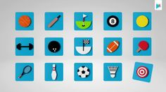 C4D / Video loops package - 3D Sports Icons. If you are looking for quick ready made 3D icons. Here is a sports collection that might come i...