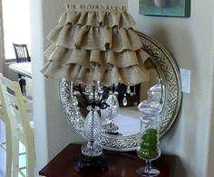 Burlap Ruffle Lamp Shade  DIY Inspiration! :)