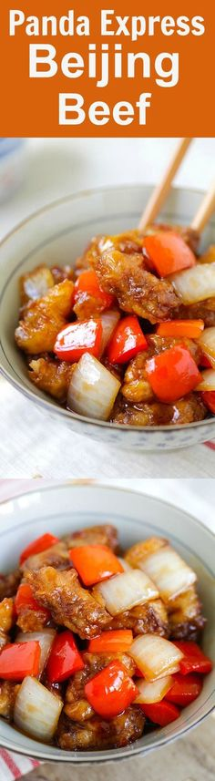 Panda Express Beijing Beef Copycat – the most delicious Beijing Beef that tastes exactly like Panda Express, but healthier and much better than takeout | rasamalaysia.com Asian Recipes, Beef Recipes, Cooking Recipes, Healthy Recipes, Great Recipes, Dinner Recipes, Favorite Recipes, Beijing Beef, Foodies