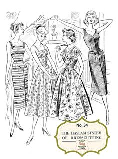 The Haslam System of Dressmaking No. 34  1950's  by MyVintageWish