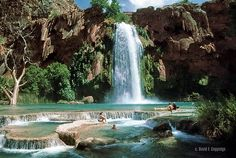 Havasu Falls in Grand Canyon National park. :D