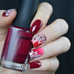 Spirits of Hamsa Stamping Plate For Stamped Nail Art Design Disney Christmas Nails, Nightmare Before Christmas Nails, Christmas Nail Art Designs, Black Nail Designs, Beautiful Nail Designs, Acrylic Nail Designs, Fingernail Designs, Mandala Nails, Nail Stamping Plates