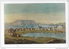 Painting of Reykjavik 1862 by A. W. Fowles ~ Iceland