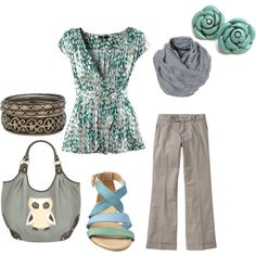 "Shirt, earrings, top, and pants. ""JoyceAnn's eyes"" by expressingyourtruth on Polyvore"