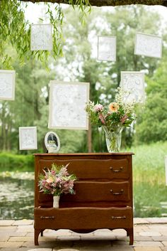 Vintage framed lace or fabric backdrop. We can offer this for ceremony, photo shoot, or reception decor.