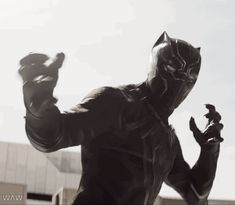 """Black Panther is a bad ass. Him saying """"Captain"""" was a little more than I could handle *fanning self with paper* So excited to see him on screen."""