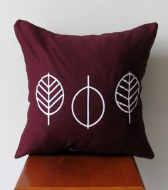 Leafy Decorative Accent Pillow Cover Hand by AnyarwotDesigns, $20.00