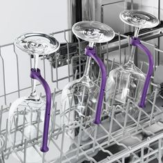 Gläserhalter für Geschirrspüler, 8er-Set - Endlich können Sie auch viele langstielige Gläser gefahrlos im Geschirrspüler reinigen.