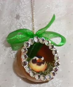 Bird's Nest Clay Pot Christmas Ornaments