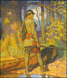 """The Frontiersman"" - Illustration by N.C. Wyeth, 1920."