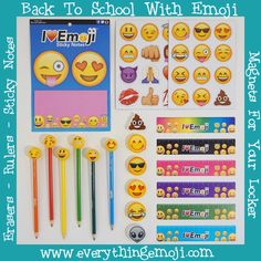 16 Best Emoji School Supplies Rulers and Erasers images