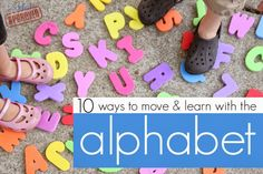 10 fun ways to help kids learn letters and get out some wiggles. {Toddler Approved}