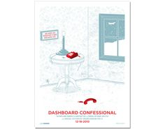 dashboard confessional | 18x24 inches | $20 {love, love, love this poster!}