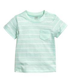 T-shirt   Mintgrøn/Stribet   Børn   H&M DK