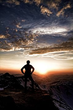 There is nothing more awesome than watching the sunrise from a mountain.
