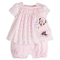 Minnie Mouse Floral Romper for Baby