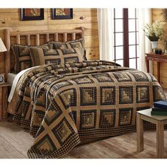 Everything Primitives - Brockton Cabin Black Queen Quilt, $199.95 (http://www.everythingprimitives.com/brockton-cabin-black-queen-quilt/)