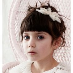 Sugar Almond Headband Vintage #kids #fashion #headbands #white #flowergirls