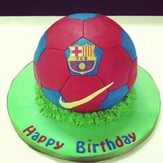 Billedresultat for barcelona cake Art Birthday Cake, Football Birthday Cake, Bithday Cake, Birthday Party Treats, Happy Birthday, Birthday Parties, Little Boy Cakes, Cakes For Boys, Soccer Theme