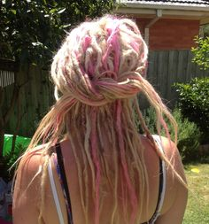 It's way too late, i'd never do it now, but I truly love the pink and blonde dreads....