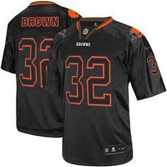 cb2e57c6822 Nike Elite Jim Brown Lights Out Black Men s Jersey - Cleveland Browns  32  NFL Football