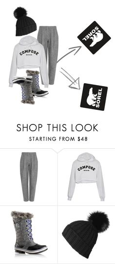 """""""Tame Winter with SOREL: going out for a moment"""" by bedwinargd on Polyvore featuring SOREL, Acne Studios, Black and sorelstyle"""