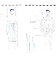 Fashion Sketchbook - fashion design drawings; creative process; fashion portfolio // Rebecca Thomson