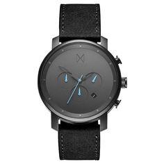 Chrono Gun Metal/Black Leather – MVMT Watches