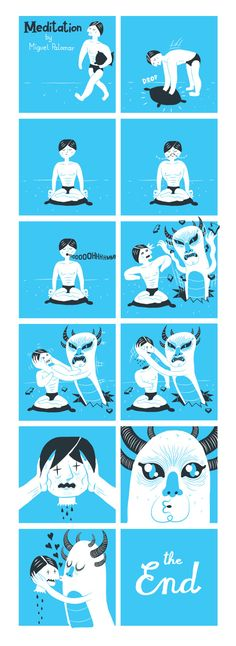 Meditation by Miguel Palomar, via Behance