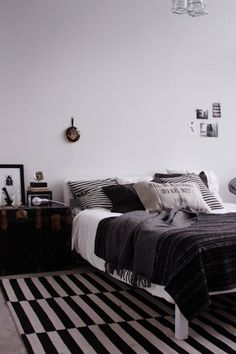 Black and White. try the same combination of pillow in the couch for the winter season