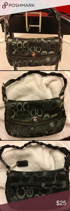 Coach Signature Purse Coach Signature Purse with braided straps! Excellent condition, worn a few times. No stains. Coach Bags Shoulder Bags