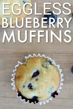My kids loves these DELICIOUS eggless blueberry muffins. They are perfect for breakfast or a quick after school snack. NO eggs needed. Baby Muffins, Blueberry Muffins For Baby, Egg Free Muffins, Toddler Muffins, Blue Berry Muffins, Eggless Desserts, Eggless Recipes, Eggless Baking, Eggless Muffins