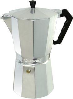 Cuisaid Xpress-O Stove-Top 9 Cup Espresso Maker - http://www.teaandcoffeemaker.com/stovetop-espresso-pots/cuisaid-xpress-o-stove-top-9-cup-espresso-maker/