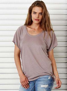 Dámské tričko - volný střih s širokými rukávy