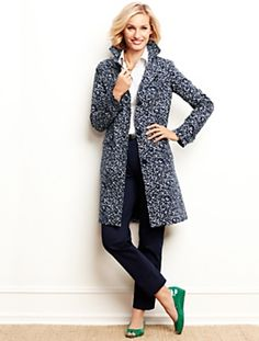 Talbots - Abstract-Leaf Coat
