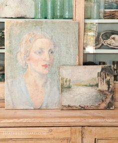 Oil paintings ~ brocante and flea market finds in Paris