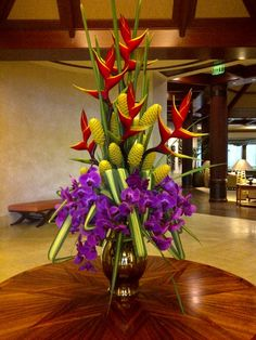 Beautiful Floral Arrangement for a hotel lobby. We create similar designs!