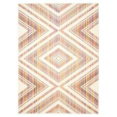 Anchor your living room seating group or define space in the den with this artfully loomed rug, featuring a Southwestern-inspired diamond motif for eye-catch...
