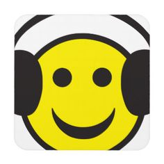 Smiley Face Coasters, Smiley Face Drink Coasters, Beverage Coasters