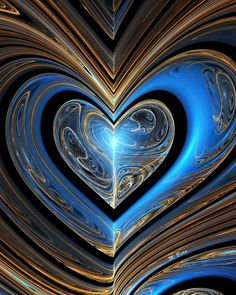A beautiful Fractal Heart I Love Heart, Happy Heart, Grateful Heart, Coeur Gif, Art Fractal, Foto 3d, Heart In Nature, Heart Wallpaper, Felt Hearts