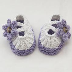 Ръчно плетени бебешки обувки-Буйки
