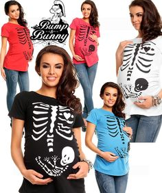 Coral Ribs Maternity Tee Alternative Skeleton Halloween Cool Punk Different Cute