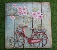 33 ideas for vintage art decor wood signs Decoupage Vintage, Decoupage Paper, Vintage Art, Wood Crafts, Diy And Crafts, Arts And Crafts, Paper Crafts, Arte Pallet, Pallet Art
